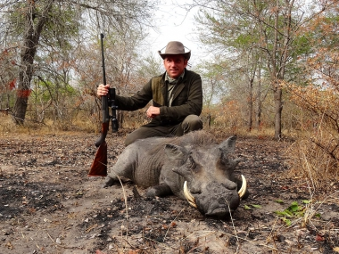 Warthog Hunting in Tanzania with Heritage Safaris